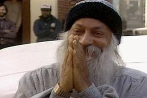 Bhagwan Shree Rajneesh/Osho in a still from the Netflix series, Wild Wild Country.