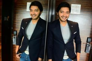 Shreyas Talpade poses for a shoot during his recent visit to Pune