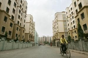 Houses constructed under MHADAhousing scheme at Pratiksha Nagar. The authority constructed around 2,500 houses against its set target of 10,576 houses between the years 2015 and 2018.