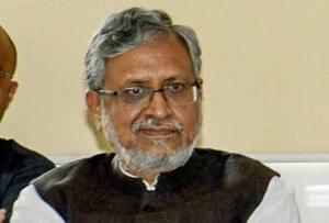 Bihar deputy CM Sushil Kumar Modi during Lok Samvad programme at CM