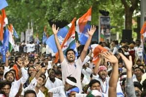 Independent candidate Vinod Jhakhar was elected president of Rajasthan University Students' Union. Jhakhar, a rebel NSUI candidate, got 2,532 more votes than the official party candidate, Ranbir Singh Singhania.