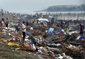Every year, the Yamuna gets dirty and highly polluted after the festivities.