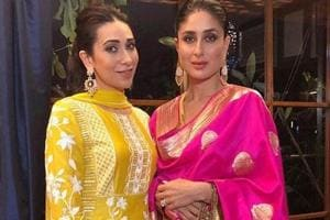 Sisters Karisma and Kareena Kapoor looked stunning in traditional attire for Ganesh Chathurti.