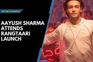 Aayush Sharma attends launch of new song Rangtaari from Loveratri