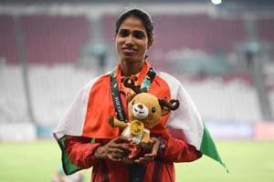 Sudha Singh won the silver medal at the 2018 Asian Games.
