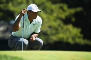 File images of Tiger Woods.