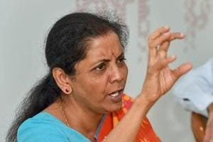 Defence Minister Nirmala Sitharaman during an interaction with journalists at PTI office, in New Delhi, Sept 13, 2018.