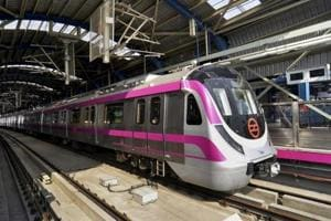 The Delhi Metro Rail Corporation (DMRC) said the train halted due to a signalling issue at Shankar Vihar at 4.35pm. Officials said the train was later pulled out of service and sent for maintenance by 4.55pm.