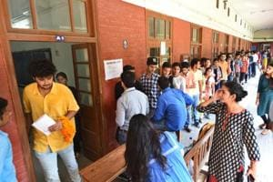 Polling took place at 52 centres in the Delhi University colleges where 1.35 lakh voters cast their votes.
