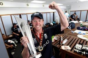 Paul Collingwood became the first England captain to win a trophy at a global tournament when he guided the side to the ICC World T20 in 2010.