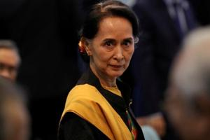Myanmar State Counselor Aung San Suu Kyi attends the opening session of the 31st ASEAN Summit in Manila, Philippines, November 13, 2017.