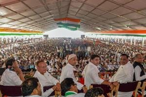 Rajasthan Congress chief Sachin Pilot, party senior leader Ashok Gehlot and other during Congress