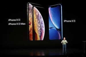 Philip W. Schiller, Senior Vice President, Worldwide Marketing of Apple, speaks about the new Apple iPhone XR at an Apple Inc product launch event at the Steve Jobs Theater in Cupertino, California, USA.