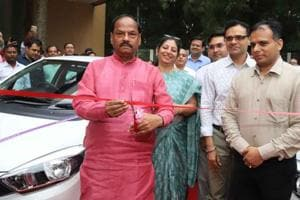 Jharkhand CM Raghubar Das launched the electric car fleet at the secretariat in Ranchi on Wednesday.