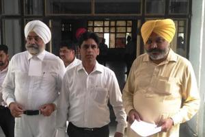Delhi AAP legislator Naresh Yadav coming out from the court on Thursday.