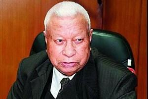 Former Meghalaya Chief Minister and veteran Congress leader DDLapang who quit the party Thursday evening.