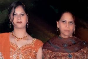 File photo of  Usha Grover and daughter Heena Grover(left).