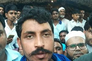 Bhim Army chief Chandrashekhar Azad after being released from Saharanpur jail on Sept 14.