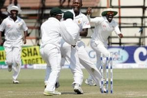 Zimbabwe recorded their first ever win over Pakistan in the longest format of the game.