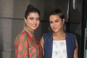 Kajol recorded an episode with Neha Dhupia for her show, NoFilterNeha.