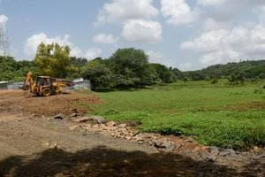 Trenches have been dug and land levelled using mud for building the Metro car shed in Aarey Milk Colony. Environmentalists claim this is in violation of the Supreme Court and National Green Tribunal stays.