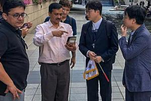 Delhi chief minister Arvind Kejriwal, who has been monitoring the project from Seoul, said  these are teething problems.