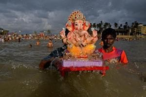 From Ganesh Chaturthi to flooded banks of the Ganges: India this week
