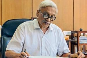 Goa chief minister Manohar Parrikar at his office at the Secretariat, in Porvorim in June 2018. Parrikar had undergone treatment for three months in the US for a pancreatic ailment earlier this year.