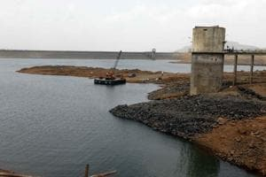 Bhama Askhed dam near Khed in Pune.
