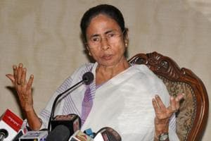 West Bengal chief minister Mamata Banerjee interacts with the media in Kolkata.