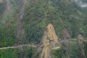 Officials said at least 50 houses have been fully or partially damaged by landslides.