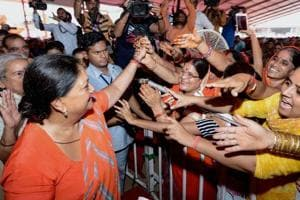 Rajasthan chief minister Vasundhara Raje kicked off her four-day Gaurav Yatra in Hadauti region from Jhalawar district on Friday after worshipping at the Kyasara temple in Dag region.