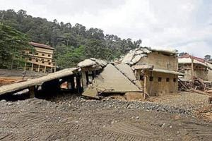 Pamba base camp, which leads to Sabarimala temple in Kerala's Pathanamthitta district, left ravaged by the floods in August.