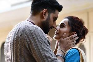 Abhishek Bachchan and Taapsee Pannu in a still from Manmarziyaan.