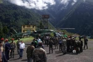 On Sunday, helicopters made several sorties to Gangtok and Sevok near Siliguri and evacuated approximately 60 people.