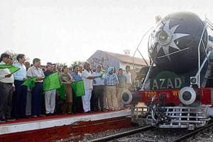 The train will by run by a steam engine, which goes by the name Azad.
