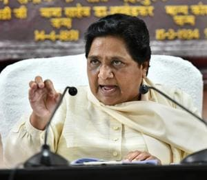 Bahujan Samaj Party supremo Mayawati addresses a press conference, in Lucknow on Sunday.