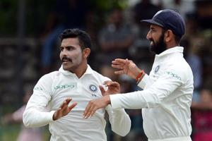Ravindra Jadeja and Cheteshwar Pujara (right) will play the first half of the Vijay Hazare Trophy.