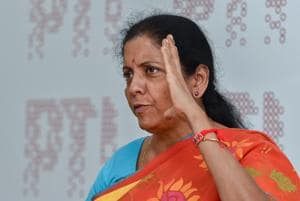 Defence minister Nirmala Sitharaman during an interaction with journalists in New Delhi.
