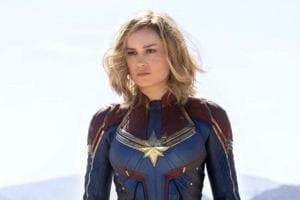 Brie Larson as Carol Danvers/Captain Marvel.
