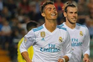 File photo of Cristiano Ronaldo and Gareth Bale when they were teammates at Real Madrid.