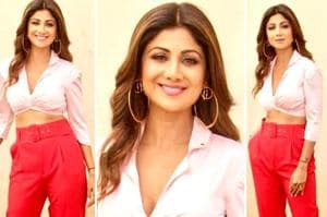 Shilpa Shetty Kundra shows red pants are easier to style than you might think and suited to just about any occasion. (Instagram)