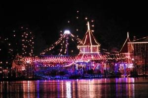 The Naina Devi temple in the city has been decorated for the three-day festival.