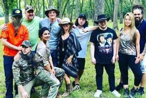 Priyanka Chopra and Nick Jonas with their friends at a ranch in Oklahoma.
