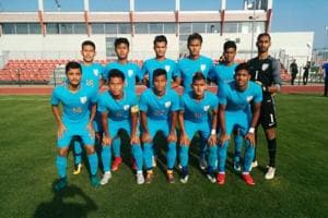 A team photo of the U-19 India outfit