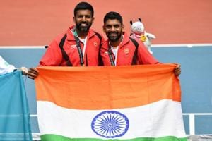 File picture of Divij Sharan and Rohan Bopanna