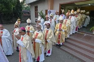 Fifty Bishops from across India attended a High Mass at St Patrick