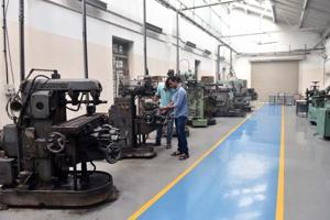 A view of machinery at COEP donated by alumni.