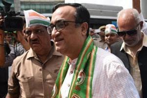 Ajay Maken, president of the Delhi Pradesh Congress Committee, at a protest rally against rising fuel prices, in New Delhi last week.