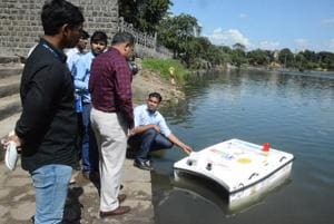 To maintain cleanliness in water bodies during Ganesh immersion, Pimpri Chinchwad municipal corporation has decided to use a unmanned water vehicle, to collect water floating trash on experimental basis.